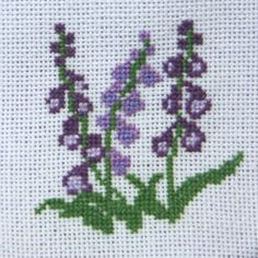 More than 50 Easy Miniature Projects to Make: Miniature Foxglove in Cross Stitch or Needlepoint