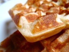 Best waffle batter -- made into waffles!