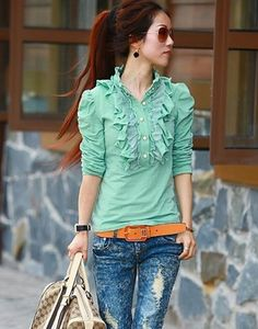 The site to buy Plus size clothing wholesale Morocco Fashion, Japan Fashion, Grey Fashion, Wholesale Clothing, Plus Size Outfits, Ruffles, Ruffle Blouse, Shirts, Clothes