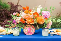 Love the colors in this Eclectic Cinco de Mayo Wedding Inspiration!