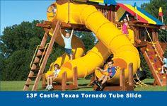 13F Castle Texas Tornado Tube Slide #swingsets #rainbowplay #rainbowplaysystem #rainbowplaysystems