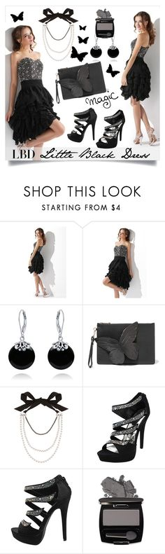 """""""Black Magic"""" by mahafromkailash ❤ liked on Polyvore featuring Bling Jewelry, Sophia Webster, Lanvin, Avon and LBD"""