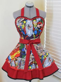 Marvel Comics Double Full of Flounce Sexy Pin Up by AquamarCouture, $50.00