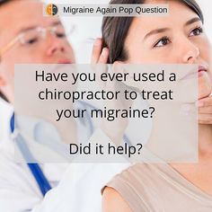 Our migraine community is mixed on whether chiropractic is helpful or not for migraine treatment.  What say you?  #migraine #migraines #migrainetreatment #chiropractic #pain