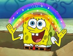 SpongeBob SquarePants is listed (or ranked) 7 on the list Cartoon Characters You Never Realized Are Probably Gay Spongebob Cartoon, Memes Spongebob, Cartoon Memes, Spongebob Squarepants, Cartoon Characters, Funny Memes, Nickelodeon Spongebob, Spongebob Patrick, 90s Cartoons