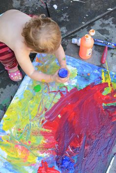 Evolving Canvas Art for Kids - Process Art How To