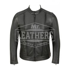 Fashion Leather Jacket With Large Zipper Vents