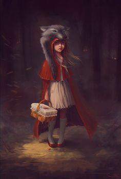 Digital Illustrations by SneznyBars | #littleredridinghood #fairytale
