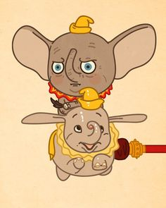 Artist Mike Mitchell takes some of the most-loved pop culture characters and puts them in ironic situations. : Dumbo