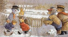 Serviette Foxwood Tales Im Winter - serviettenrausch.
