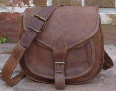 Leather crossbody purse / brown leather purse / by handsmadeitforu, $29.00