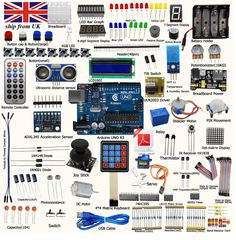 UNO R3 Ultimate Starter learning Kit for Arduino UNO R3 LCD1602 Motor processing…