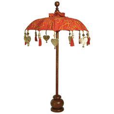 "Petite Orange Spice Celestial Balinese Decorative Umbrella  asianideas.com, 70.00, 24""dia x 32""h Balinese Decor, Interior Accessories, Garden Design, Patio, Celestial, Lighting, Outdoor Decor, Events, Home Decor"