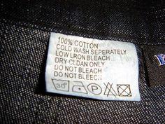Τι σημαίνουν τα σύμβολα στις ετικέτες των ρούχων | SuperEverything