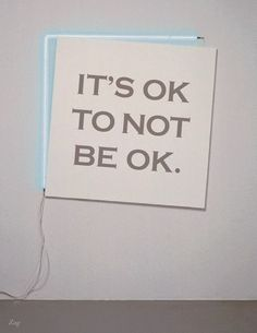 It's Okay to Not be Okay. I found this simple to be incredibly powerful and relevant to our practice. As nurses, we encounter patients through various forms of tragedy...In the trauma room we meet those who are having the worse day of their life. In the dialysis clinic we care for those who are going through an enduring crisis. In the NICU we comfort the parent who just experienced unimaginable loss. Acceptance is perhaps the greatest gift we have to offer our patients... #coping #acceptance