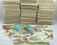 Genuino antigua colección de tarjetas postales Vintage/Reino Unido/exteriores/Europa/B & con mucho trabajo mixto surtido Eras de color (en paquetes de 20)