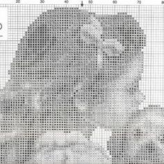 Схема вышивки Девочка с собакой (Vervaco) 1 ИЗ 2