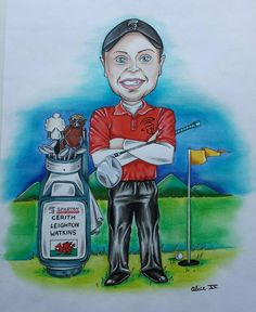 Awesome caricature of @SpartanWelding sponsored athlete @WatkinsGolf - also part of #TeamFirefly!