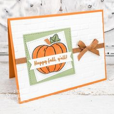 It's almost time to start sending some fall cards! But before we get into that, I have to say that I LOVE any expression on a stamp set that is in my native tongue! #cardmaking #stampinup #crafting #coffeecard #creative #ITeachStamping