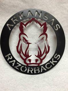 Arkansas Razorbacks // Metal Circular Sign