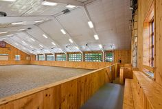 Seriously amazing indoor arena! Except, in these parts, the observation area would need to be enclosed/heated.