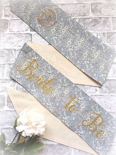 Bride to Be sash vintage floral hen party sash Bride To Be Sash, Fairy Wands, Rosettes, Vintage Floral, Floral Tie, Stitch, Trending Outfits, Unique Jewelry, Handmade Gifts