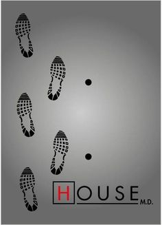 House footprints & cane prints