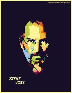 Steve jobs on WPAP by Fadhel147 on DeviantArt
