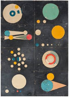 Geometria cosmica II, tecnica mista su tela, 100x70cm, 2014 Regina Gimenez