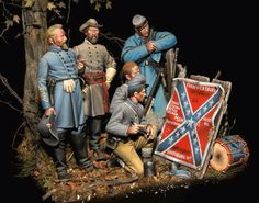 Painting the Regimental Colors with the latest battle honors. Military Figures, Military Diorama, Civil War Art, Pictures Of Jesus Christ, Confederate States Of America, Military Modelling, Crime, Colonial America, Civil War Photos