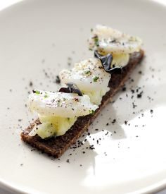 In this cod branadade recipe Agnar Sverrisson lifts the dish to a light plane with the addition of pumpernickel and salty olives