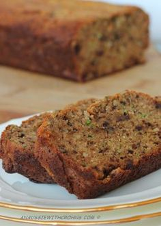 Zucchini bread with