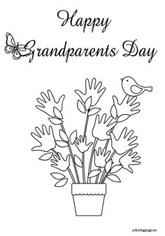 Hy Grandpas Day Coloring Page