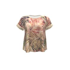 Hey June Handmade Santa Fe Top made with Spoonflower designs on Sprout Patterns. Tropical vintage pattern with palm leaves