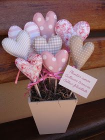 Encomenda da minha cunhada Roberta: rosa + bege, corações, tons pastéis, amor!