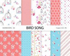 Shabby Chic Digital Paper Bird Digital Papers by ValerianeDigital  https://www.etsy.com/listing/160129686/shabby-chic-digital-paper-bird-digital?ref=shop_home_active_10