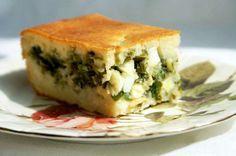 Заливной пирог с зелёным луком и яйцами