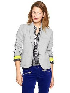 Knit blazer - looks like I could wrangle two kids in this!