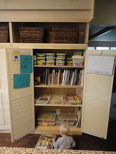 Our homeschool cabinet