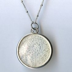 Tree of Life. Sterling Silver Mother of pearl Pendant $160 #outdoorsystyle #howdoyousparkle www.argolehne.com