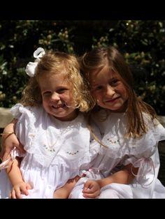 Beautiful sisters in their Mela Wilson Heirloom.