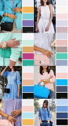 Pastel colors are delicate and inspire our lightness. Colour Combinations Fashion, Color Combinations For Clothes, Fashion Colours, Colorful Fashion, Color Combos, Wardrobe Color Guide, Color Palette Challenge, Fashion Vocabulary, Color Pairing