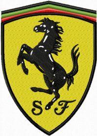 Ferrari Machine Embroidery Design