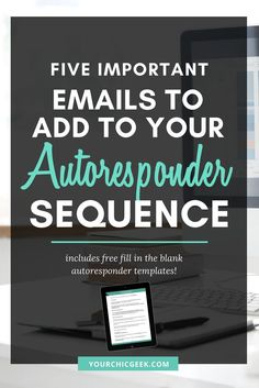 An Autoresponder Sequence is super beneficial! Read this post to view 5 ideals for emails to add to your Autoresponder Sequence