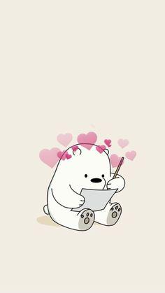 wallpaper We Bare Bears ♥ Cute Panda Wallpaper, Bear Wallpaper, Kawaii Wallpaper, Cute Wallpaper Backgrounds, Aesthetic Iphone Wallpaper, Cute Images For Wallpaper, Mood Wallpaper, Perfect Wallpaper, Pastel Wallpaper