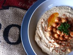 Hummus--a creamy, healthy snack or appetizer. #hummus #Lebanese #healthy