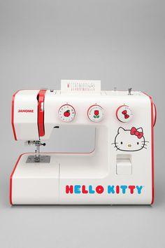 Ahora si me hago costurera. Hello Kitty Sewing Machine. WANT