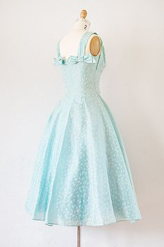 vintage 1950s frosted blue chiffon party dress | 50s dress #1950s #vintage