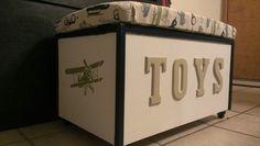 Bench toy box DIY