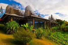 Jean-Marie Tjibaou Cultural Centre in Nouméa. Architect Renzo Piano